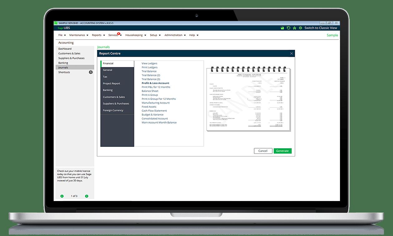 Sage UBS Software