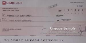 cimb cheque